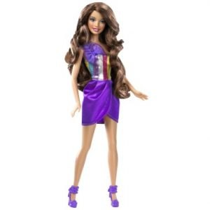 Mattel Barbie ze skracanymi włosami brunetka