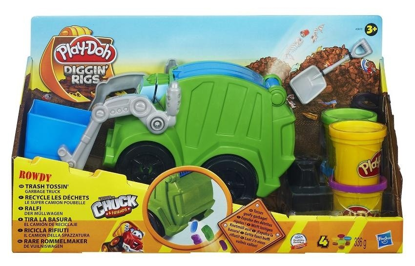 Hasbro PlayDoh A3672 Śmieciarka Rowdy