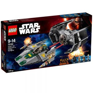 LEGO Star Wars 75150 TIE Advanced kontra myśliwie.. V29