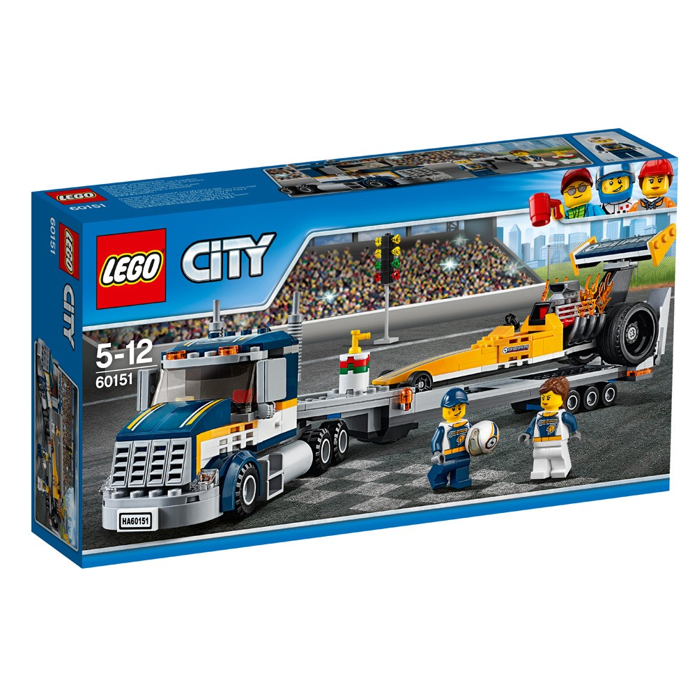 LEGO City 60151 Transporter dragsterów V29
