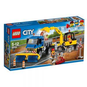 LEGO City 60152 Zamiatacz ulic i koparka V29